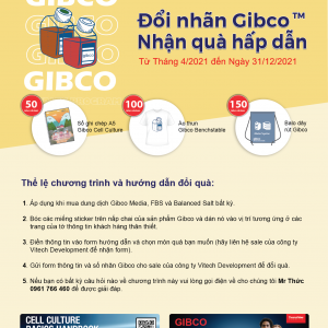Chương trình khuyến mãi: Đổi nhãn Gibco nhận quà hấp dẫn 2021